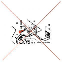 Clignotant - Vis de fixation support -  CB50/125/250/400/....