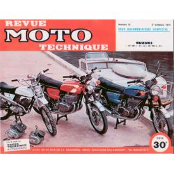 Revue Technique moto - RTM - N° 013 - Version PDF - Suzuki GT380 / GT500