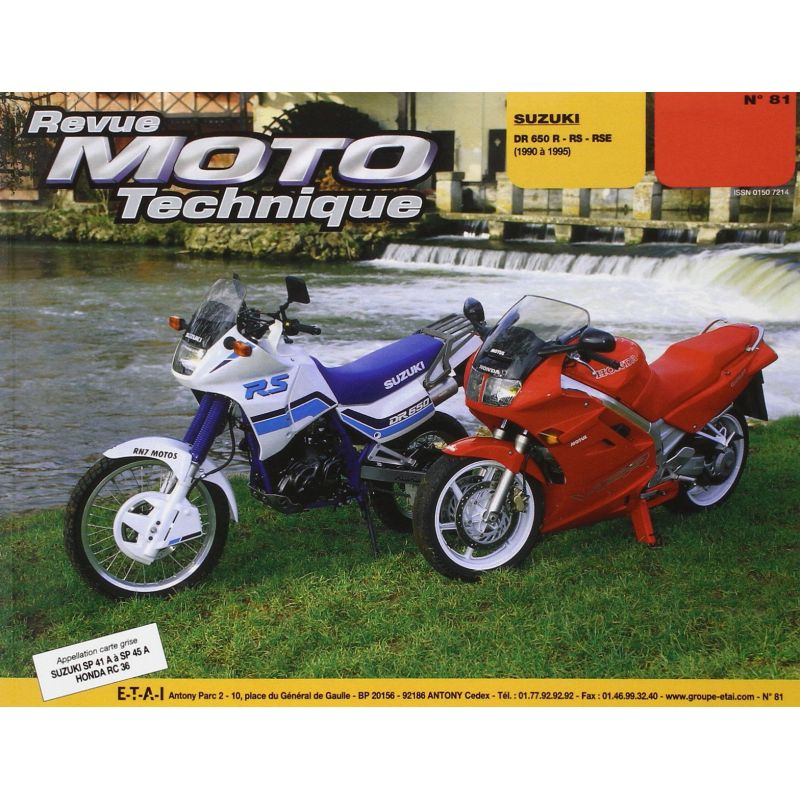RTM - N° 081-02 - DR650-R - Revue Technique moto - Version PDF