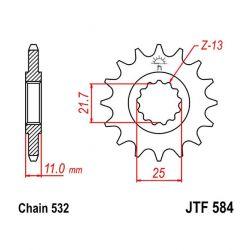 Transmission - Pignon - JTR584 - 532 - 16 Dents