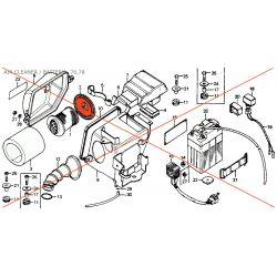 Filtre a Air  - Couvercle de support  - CB125 S3