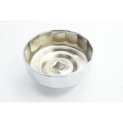 Douille de démontage filtre a huile - 80 mm - avec clef plate + cliquet