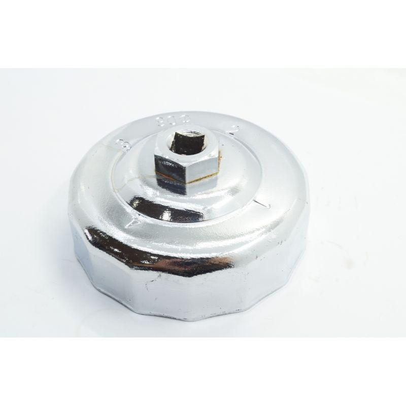 Douille de démontage filtre a huile - 65 mm - avec clef plate + cliquet