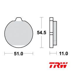 Frein - Plaquette - TRW - MCB-505 Std - Z1300