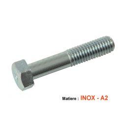 Vis - Hexagonale - Inox - M8 x1.25 x60mm - (x1) - DIN931