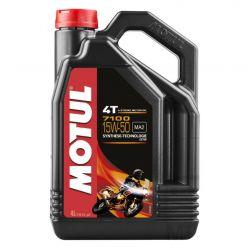 Moteur - Huile - MOTUL 7100 - Synthese - 15W50 - 4 Litres
