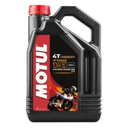 Moteur - Huile - MOTUL 7100 -  Synthese - 10W50 - 4 Litres