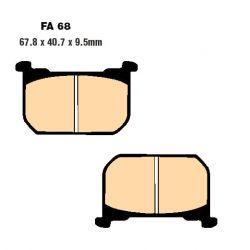 Frein - Plaquette - EBC - Semi-synthetic - FA68V - Kawasaki