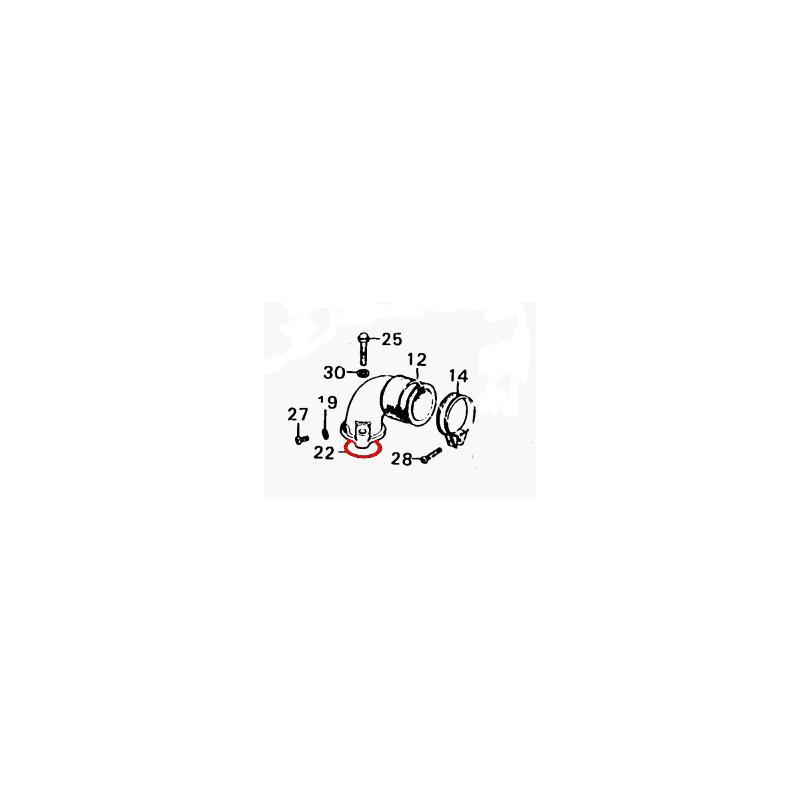 Pipe admission - Joint torique - (x1) - ø 40x2.60mm