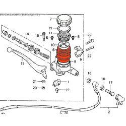Frein - Maitre cylindre - bocal - Rond - 2 Vis