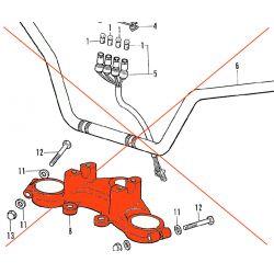 Fourche - Platine - Te de fourche Superieur - CB350 Four