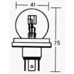 Eclairage - Ampoule  6v - 45/40w - PT15T