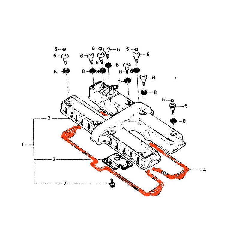 Joint Cache culbuteur - Joint de carter - CBX 750 - CB750 SevenFifty