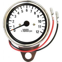 Tableau de bord - Compte Tour - Mecanique - 12000Tr/mn - Blanc