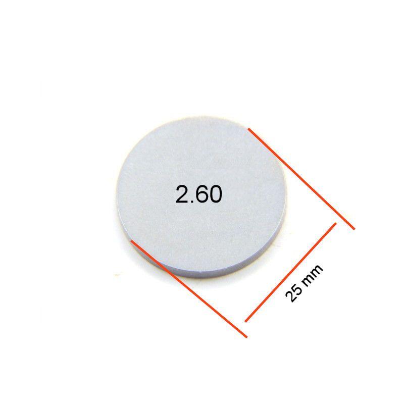 Moteur - Pastille ø 25mm - Ep  2.60 - Jeux aux soupapes