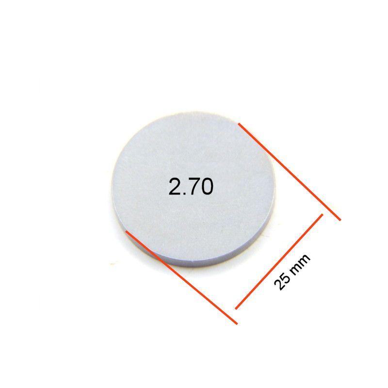 Moteur - Pastille 2.70 - ø 25mm - Jeux aux soupapes