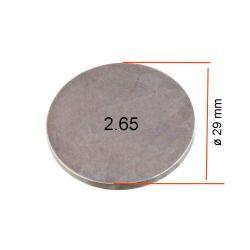 Moteur - Pastille ø 29mm - Ep 2.65 - Jeu aux soupapes