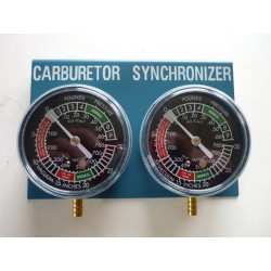 Synchro - 2 carburateurs - 2 manometres