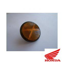 Reflecteur (x1)  - Catadioptre latéral - Noir/Orange - ø60 x M6 a visser