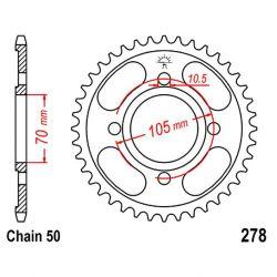 Transmission - Couronne - JTR-278 - 530-36 dents