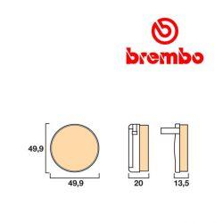 Frein - Plaquette - BREMBO - 07HO0229 - CB750 K0-K6