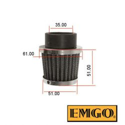 Filtre a air - ø 35mm - EMGO - Cornet - (x1)
