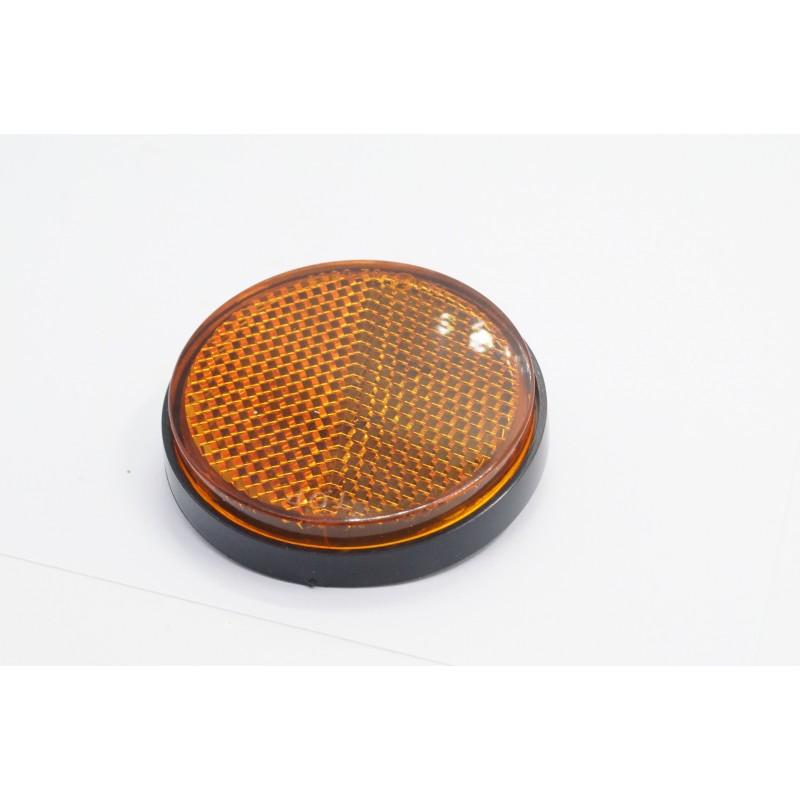 Reflecteur - Catadioptre latéral - Noir/Orange - ø60 x M5 a visser