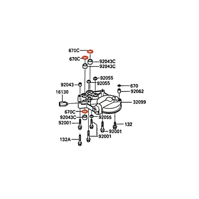 Moteur - Joint torique - (x1) - 670D-2020