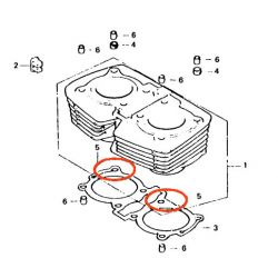 Moteur - Joint de cylindre - (x1) - 75.8 x2 mm