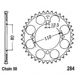 Transmission - Couronne - JTR - 284 - 530/46 dents