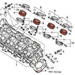 Moteur - Pipe admission - (x1) CBR900 - (SC28) - full power