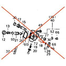 Fourche - Anti-plongée - Tige de regulateur - (x1)