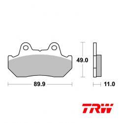 Frein - Plaquette TRW - Sinter - MCB-512
