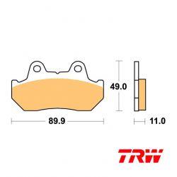 Frein - Plaquette TRW - standard - MCB-512-SV