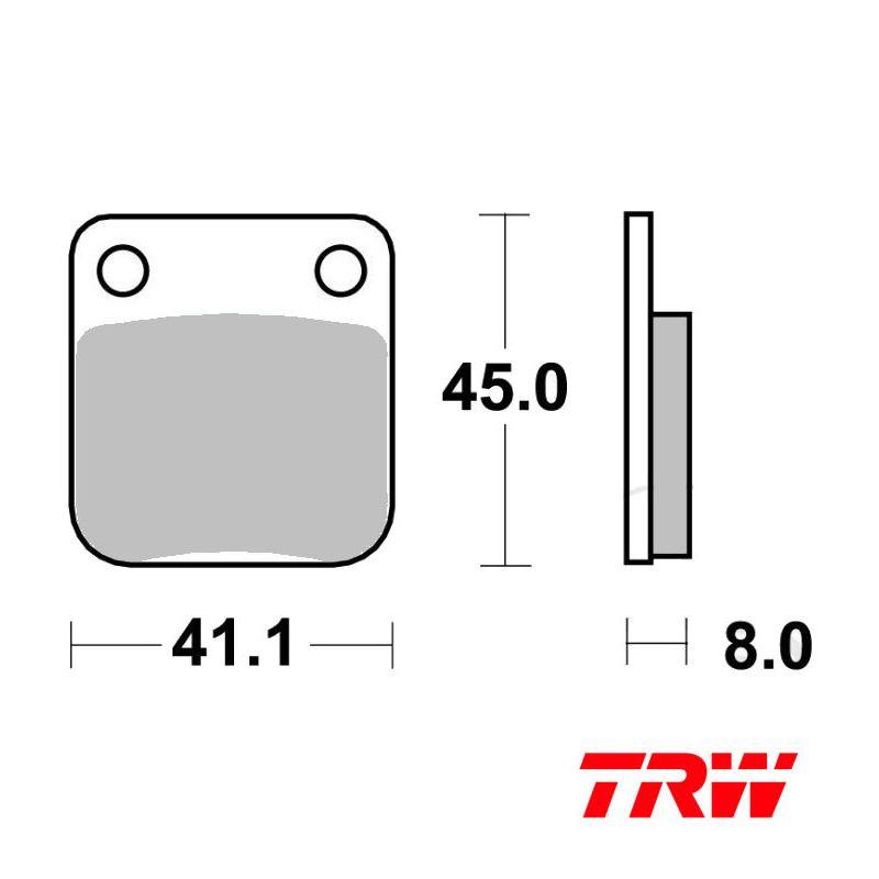 Frein - Plaquette TRW - MCB-510