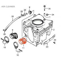 Filtre a Air - Manchon Gauche de boite a air - CX500