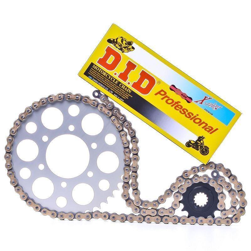 Kit chaine - Ouvert - 530/102/15/41 - NOIR/OR - DID-VX - CB250T