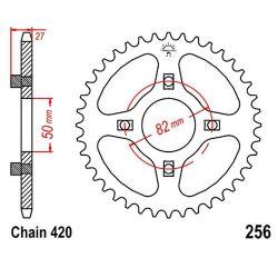 Transmission - Couronne - JTR - 256-420-43 Dents