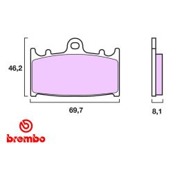 Frein - Plaquette - BREMBO - 07KA13RC