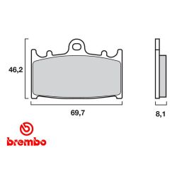 Frein - Plaquette - BREMBO - 07KA1306