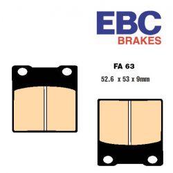 Frein - plaquette - EBC - FA063 V - Semi-sinterred