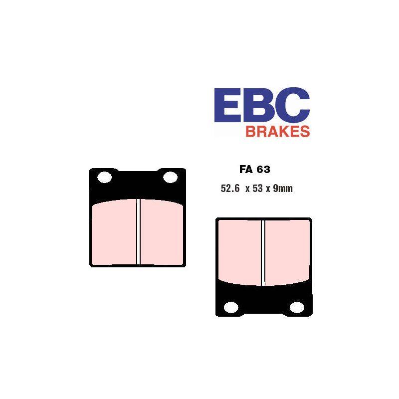 Frein - plaquette - EBC - FA063-HH - Sinterred