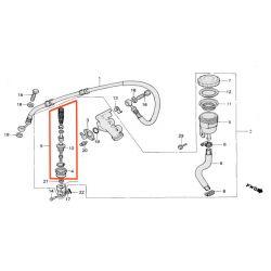 Frein - Maitre cylindre arriere - kit de reparation ø 13.95 -
