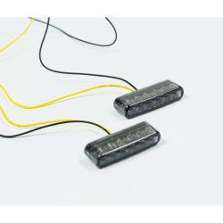 Clignotant - Feux LED - BLANC (2 pces) - 40 x 8 mm