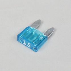 Fusible - Mini fusible - 15A - Bleu - Lg. 11mm