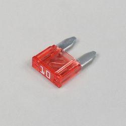 Fusible - Mini fusible - 10A - Rouge - Lg. 11mm