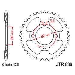 Transmission - Couronne - JTR - 836-428 - 39 dents