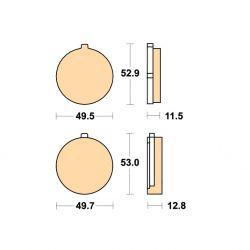 Frein - Plaquette - EBC - FA038V - Semi-Synthetic
