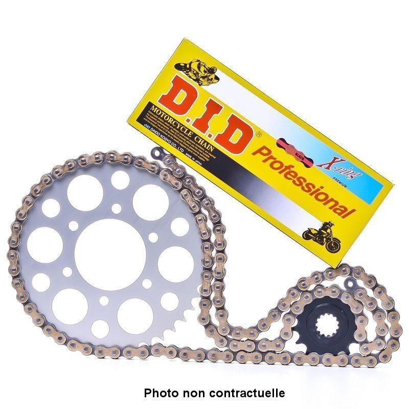 Kit chaine - Ouvert - 530-098/16/34 - DID-VX - Noir/Or
