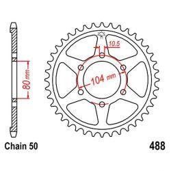 Transmission - Couronne - JTR 488 - 38 dents